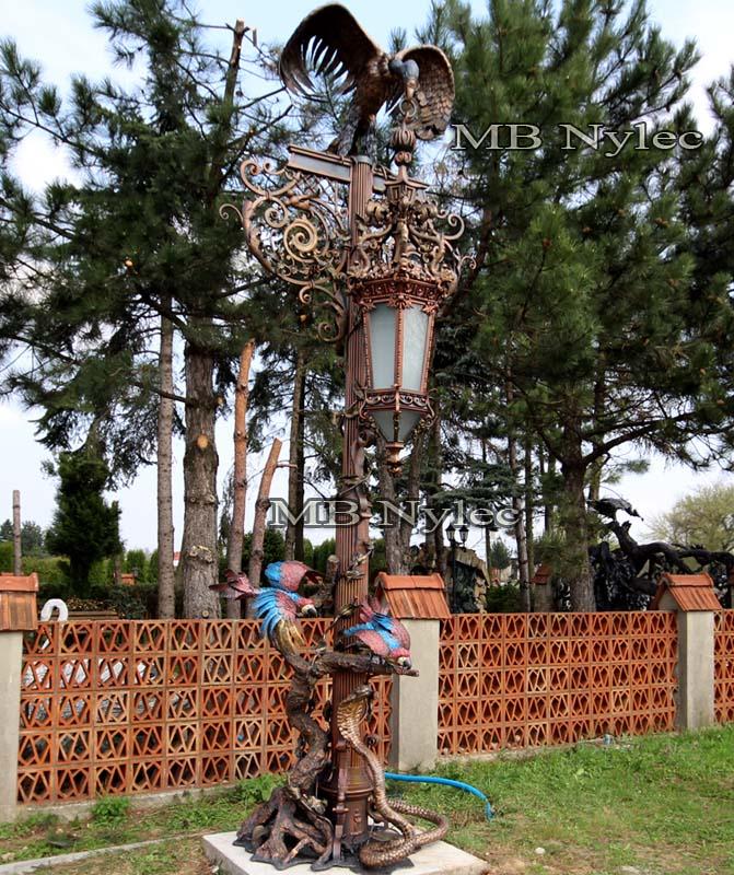 Wysokie Lampy Ogrodowe Ekskluzywne Kowalskie Lampy Kute