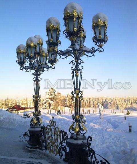 Pałacowa stojąca lampa kuta nr.kat. ogd21